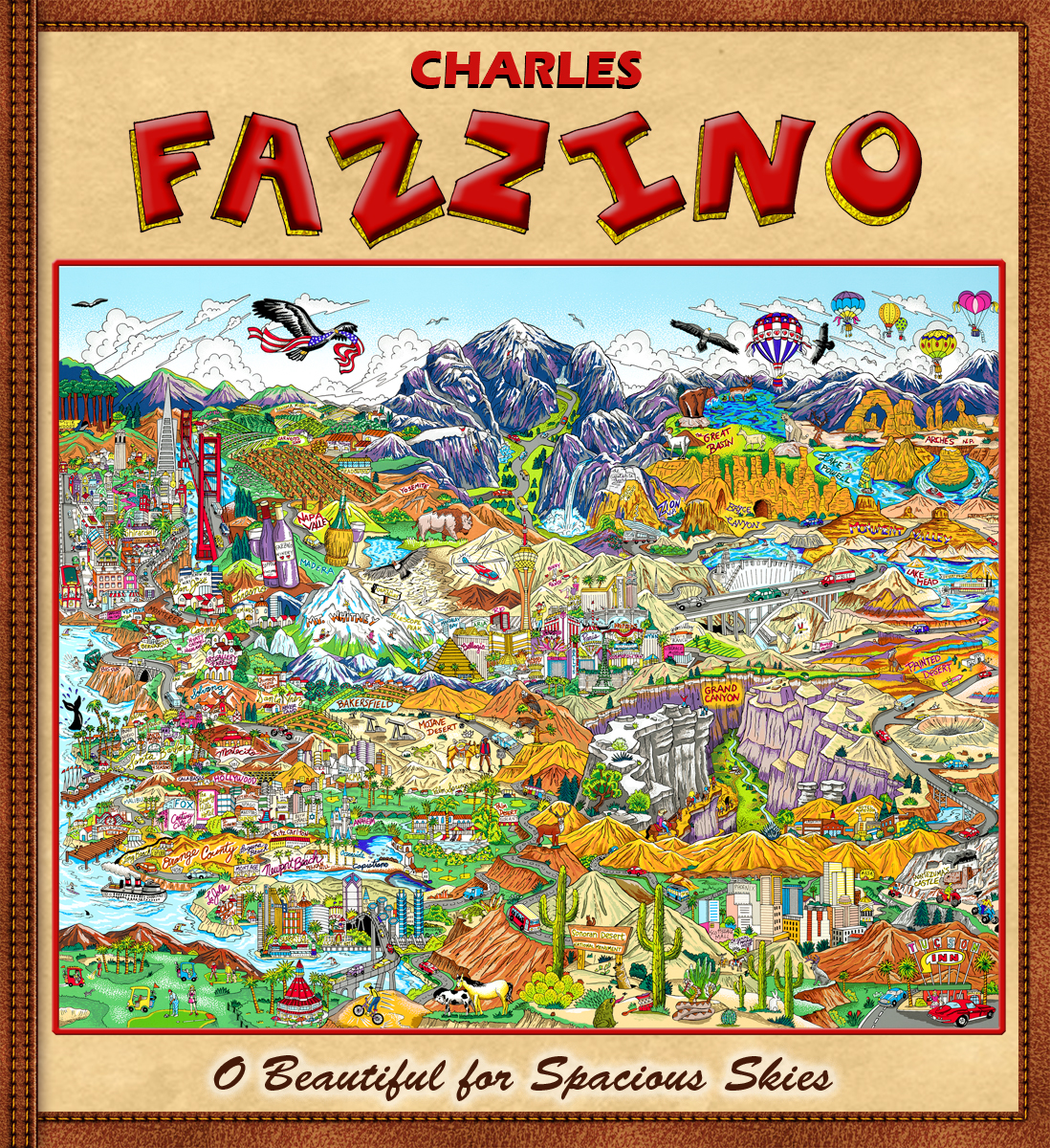 Charles Fazzino O Beautiful for Spacious Skies (Flexibound Book)